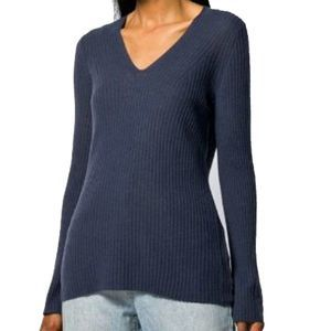 Vince  Blue Wool & Cashmere V Neck Sweater XL